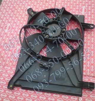 Диффузор радиатора с моторчиком дополнительный кондиционера б/у Daewoo Lanos