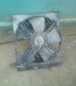 Диффузор радиатора с моторчиком основной б/у Daewoo Lanos